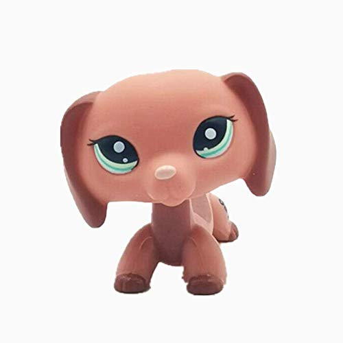 Wooer Cute Animal Pet Pink Dachshund Dog Collection Child Girl Boy Figure Toy