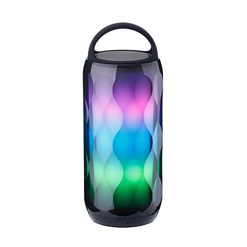 Altavoz Portatil Bluetooth con LED Luces, Inalámbrico Speaker Graves Profundos con Llamadas Manos Libres y TF, para Móvil, Tabletas, MP3, Fiestas, Viaje