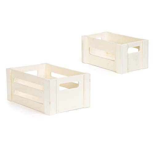 Darice Unfinished 2 Pack Wood Crate, Natural
