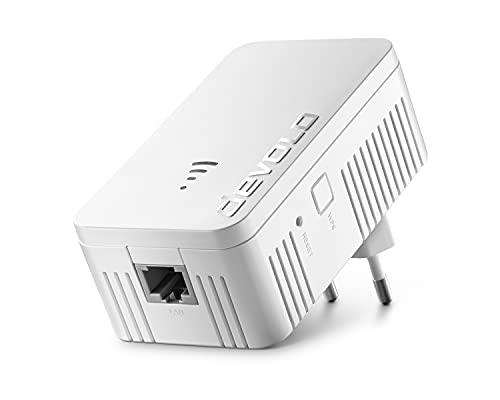 devolo WiFi 5 Repeater 1200 hasta 1.200 Mbit/s; Amplificador WiFi Mesh, Punto de Acceso, Enchufe WiFi, repetidor WiFi 1x conexión LAN, Blanco
