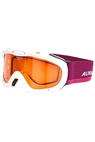 ALPINA Kinder Skibrille Kids Ruby S (Einheitsgröße, White-violett)