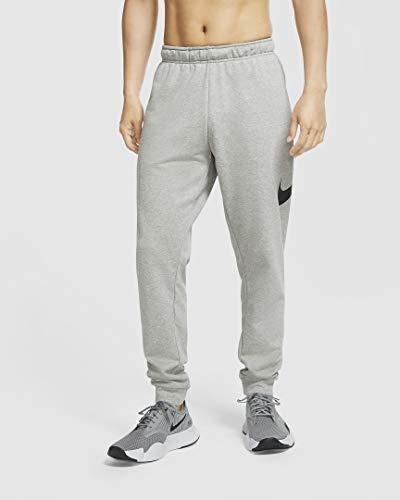 NIKE Pantalones cónicos Dri-FIT para Hombre, Color Gris Jaspeado/Negro, Talla S