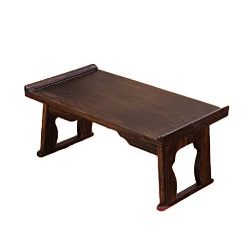 Table pliante Table Tatami Petite Table Basse Baie vitrée Table Mini lit Table paresseuse Table à thé en Bois Massif LITING (Size : L)