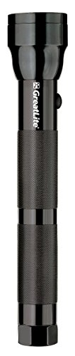 GreatLite 32024 3D Hi-Intensity Aluminum Flashlight, Black