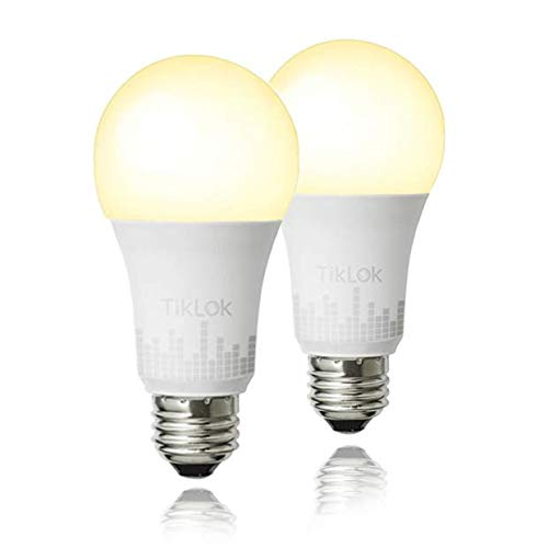 Smart Light Bulb 1 Pack, TIKLOK WiFi Tunable LED Bulb Compatible with Alexa Google Home and Siri A19 E26 60W Equivalent, with Schedule Function No Hub Required