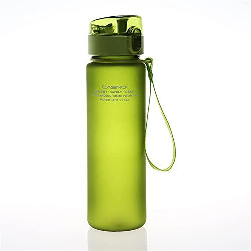 GHJGHJ Botella de Agua 56 0ML Tour Botellas de Agua de Sello a Prueba de Fugas al Aire Libre para Tritan Webware BPA Libre (Capacity : 560ml, Color : Gn)