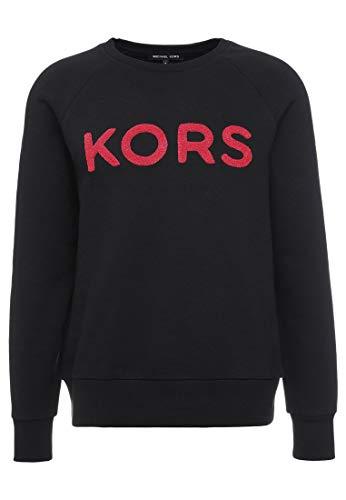 Michael Kors Sweatshirt Frottee schwarz Gr. Medium, Schwarz