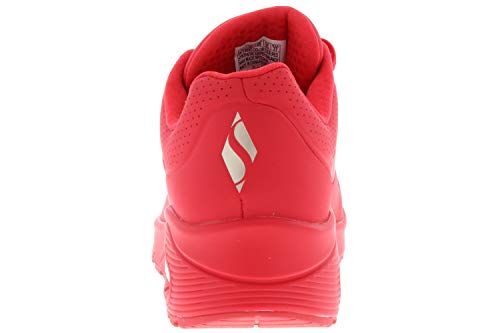 Skechers Uno Stand On Air, Zapatillas Mujer, Rojo (Red Durabuck Red), 39 EU
