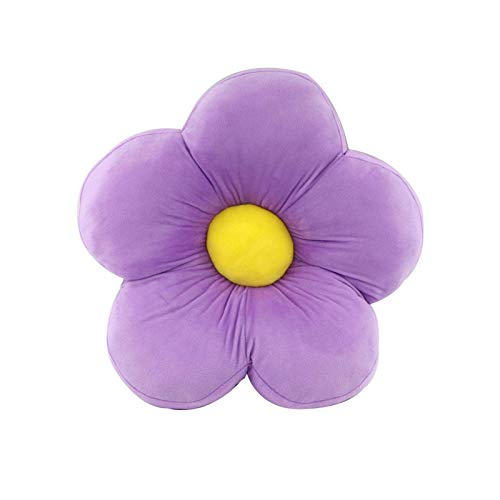 Flower Floor Pillow Seating Cushion, Cute Room Decor for Reading and Lounging Comfy Pillow for Kids - Pink,19.6x19.6inch (Purple)
