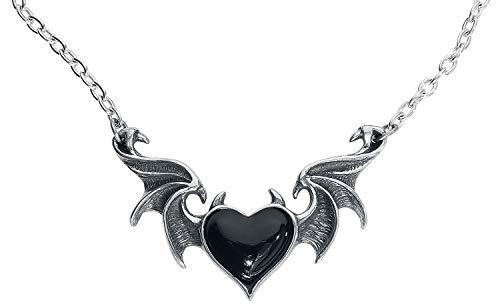 Alchemy Gothic BlackSoul Frauen Halskette schwarz/silberfarben Hartzinn Gothic, Mittelalter, Nu Goth