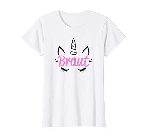 Damen Braut Einhorn JGA Rosa Pink Mädels Junggesellenabschied T-Shirt