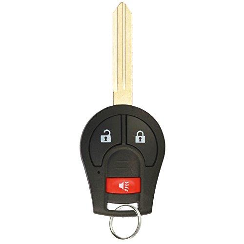 KeylessOption Keyless Entry Remote Control Car Uncut Ignition Key Fob Replacement for CWTWB1U751