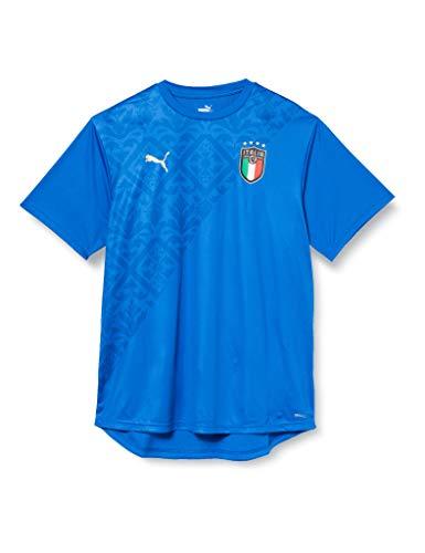 PUMA FIGC Stadium Home Jersey, Maglietta Uomo, Team Power Blue Team Gold, XL