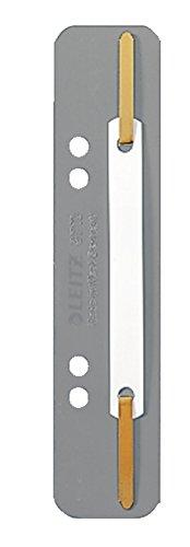 Leitz 3710-00-85 Heftstreifen, 35 x 158 mm, PP-Folie, grau