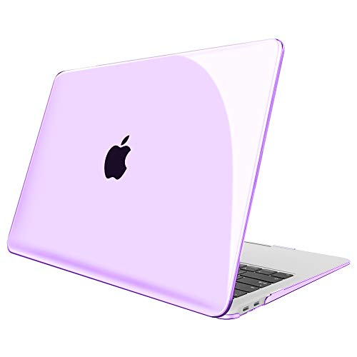 FINTIE Case for MacBook Air 13 Inch (2020 & 2019 & 2018 Release) A2179 / A1932 - Protective Snap On Hard Shell Cover for New MacBook Air 13 Retina Display with Touch ID, Crystal Purple