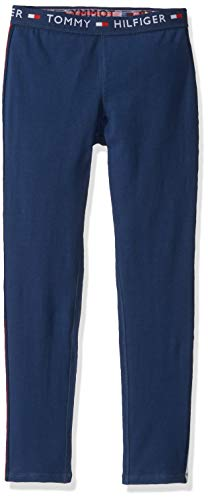 Tommy Hilfiger Little Girls' Active Pant, Band Navy Blue, 5