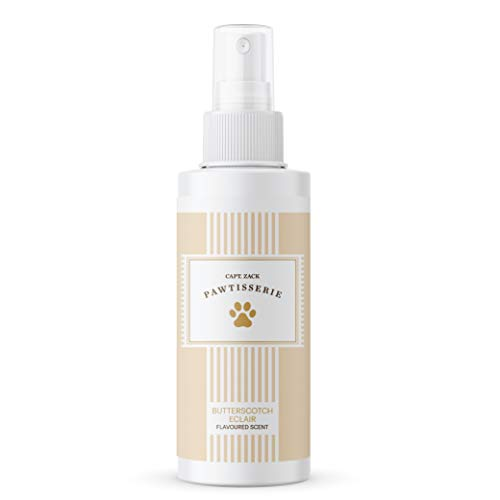 Captain Zack Butterscotch Eclair Flavoured Scent/Perfume/Deodorant/Cologne for Dogs & Cats  Contains Aloe Vera Extract & Vitamin E for Healthy Coat  Natural Fragrance  Alcohol-Paraben Free  50ml