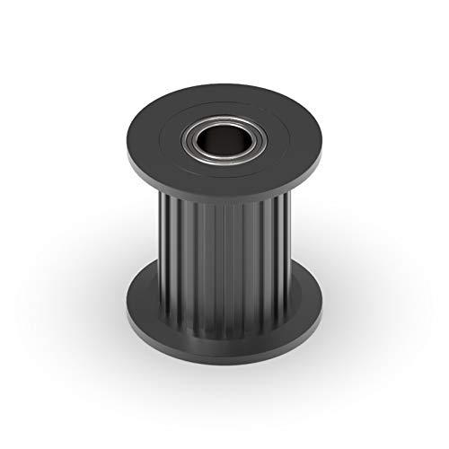 Zyilei-Poleas para correa sincronizada GT2 2GT 20 Dientes Rueda sincrónica de la rueda de la polea, orificio 3/4 / 5 / 6mm, con cojinete para cinturón de 6/10 mm, accesorios de impresora 3D Duradero y
