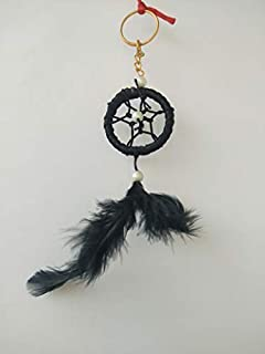 SGN Dream Catcher Wall Hanging Decorative Showpiece - 55 cm (Wool, Black)