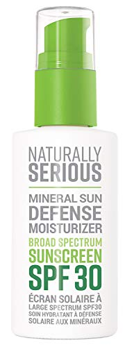 Naturally Serious Mineral Sun Defense Moisturizer Broad Spectrum Sunscreen SPF 30