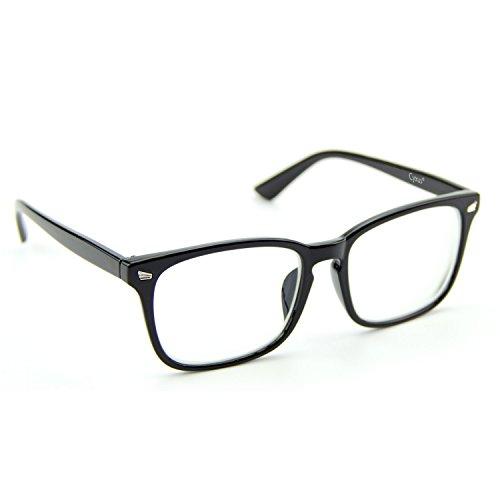 Cyuxs Blue Light Filter Nearsighted Myopia Glasses, [Anti Eyestrain] [UV Blocking] Cell Phone Computer Reading Glasses, Men & Women (Strength: -1.0)