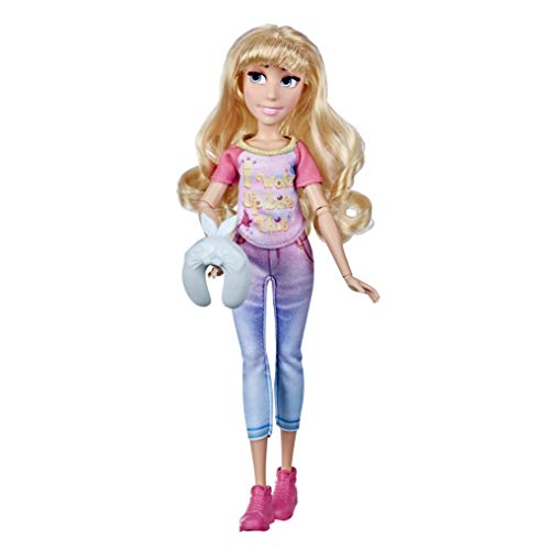 Hasbro Disney Prinzessinnen Comfy Squad Aurora Modepuppe zum Film Chaos im Netz, Puppe im Freizeit-Outfit für Mädchen ab 5 Jahren, E9024