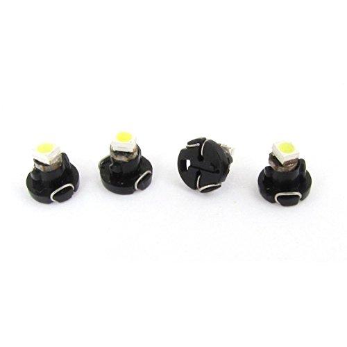 TOOGOO(R) 4Pcs de T3 LED Bombilla de lampara de luz Blanca 1210 3528 SMD para Tablero de mandos del coche