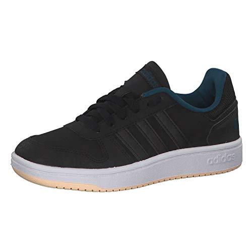 adidas Performance Hoops 2.0 Sneaker Kinder schwarz/mintgrün, 3 UK - 35.5 EU - 3.5 US