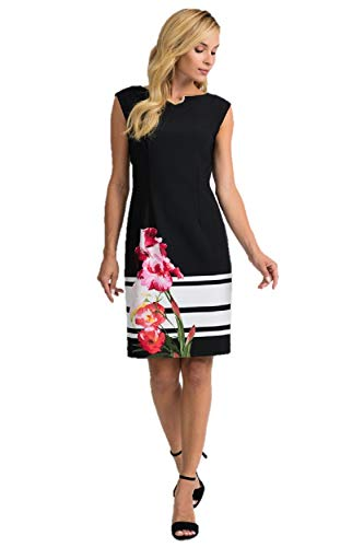 Joseph Ribkoff Black & Multicolor Dress Style 201643 - Spring 2020 Collection (14)
