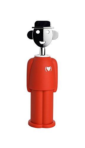 Alessi AM23 RED Alessandro M. Cavatappi in Resina Termoplastica e Zama Cromata, (PRODUCT)RED Special Edition, Rosso