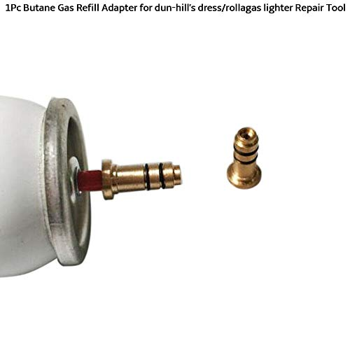 BAAQII 1X Butangas Nachfülladapter für Dun-Hill's Dress/Rollagas Feuerzeug Reparaturwerkzeug