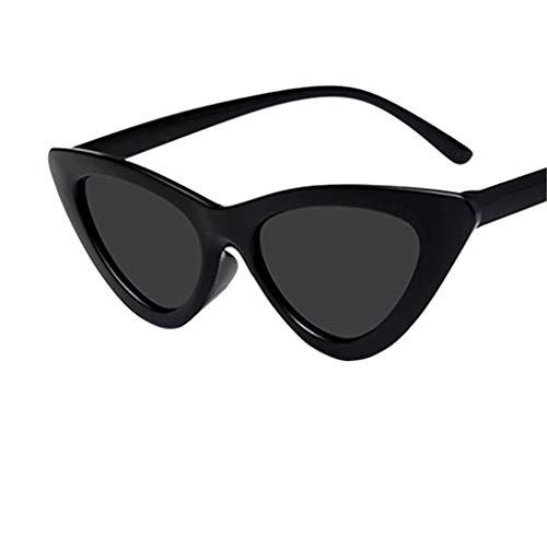 LUCKYCAT Gafas De Sol Lady Cat Eye Sunglasses Gafas De Sol Moda Mujer Vintage Cateye Marco Tonos Acetato Acetato Gafas UV Gafas De Sol
