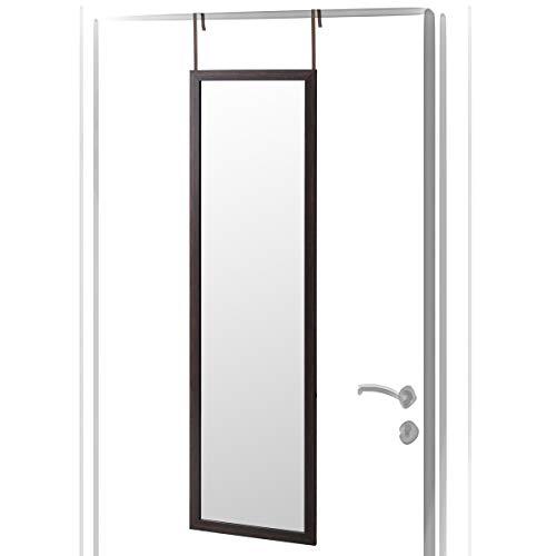 Lola Home Espejo de Puerta Moderno de plástico de 35 x 125 cm (Marron)