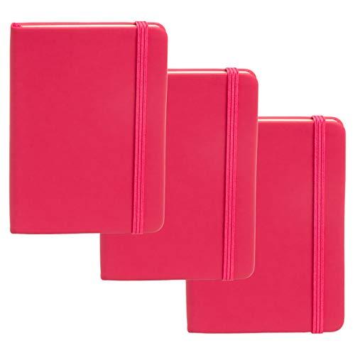 Simply Genius Tagebuch/Tagebuch, A6, liniert, 144pg, 9 x 14 cm, 3 Stück rose
