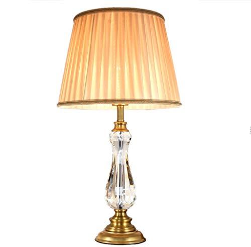AODISHA-1 Studie Schreibtischlampe, Wohnzimmer Tischlampe Auge pflegendes Licht Villa Beige Tuch Lampenschirm Gold Kupfer Basis 34 * 34 * 60 cm -Gib hell nach Hause (Size : 34 * 34 * 60CM)