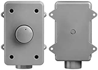 OVC305 Resistor Based 300W Rotary Knob Style Outdoor Weather Resistant Housing Volume Control - OSD Audio - (Grey)
