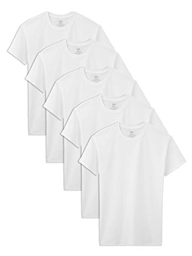 Fruit of the Loom Little Boys' Crew tee,White,2T/3T(Pack of 5)