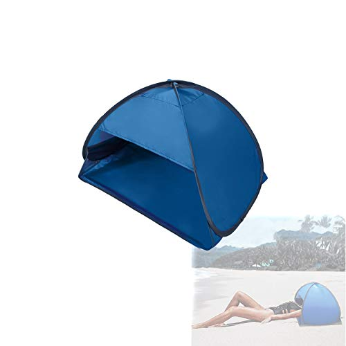 Beach Canopy, Portable Sun Shade Canopy Beach Sunbathing Shelter Pop Up Personal Sun Protection Quick Installation for 1 People