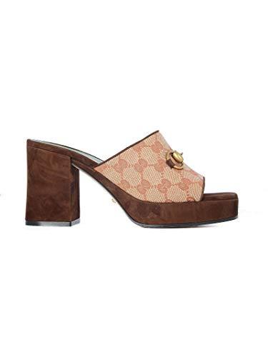 Gucci Luxury Fashion Damen 609344G17308375 Rosa Polyester Sandalen | Frühling Sommer 20