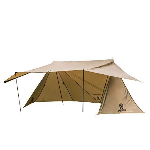 OneTigris ROC Shield Bushcraft Zelt Camping Shelter mit 4 Stangen |MEHRWEG Verpackung