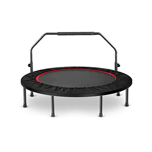 Zhao Li - Cama elástica para interiores de 40 pulgadas, plegable, mini trampolín para adultos y seguridad para ejercicio, eficaz en casa, gimnasio, trampolín infantil, rosa, Classic style