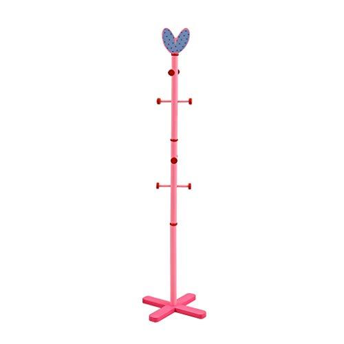 LOMJK Percheros 156cm niños Lindos Perchero Forma Europea Amor creador Soporte Ropa de Madera Percha Percha Sombrero Hallstand Capa del Sombrero del Estante (Color : Pink)