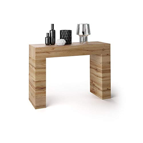 Mobili Fiver, Tavolo Consolle Evolution, Rovere Rustico, 110 x 40 x 80 cm, Nobilitato, Made in Italy, Disponibile in Vari Colori