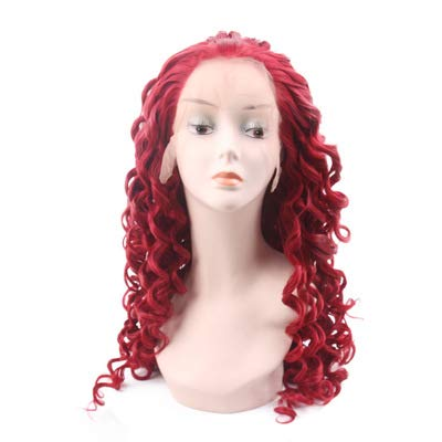 WYN123 Wigs for women human hair cosplay red wig front lace anime cos wig