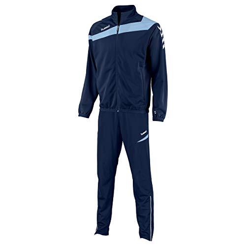 hummel Herren Trainingsanzug Elite Poly Sportanzug Navy/Sky Blue Größe XL