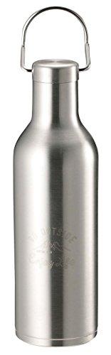 キャプテンスタッグ(CAPTAIN STAG) スポーツボトル 水筒 直飲み ダブルステンレスボトル 真空断熱 保温・保冷 ハンガーボトル 480ml シルバー モンテ UE-3420