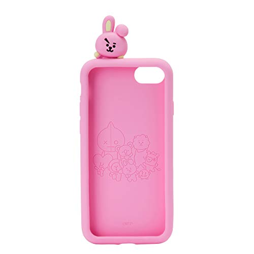 BT21 Official Merchandise by Line Friends - Cooky Character Silicone Case Compatible for iPhone 8