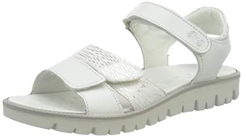 PRIMIGI Mädchen Sandalo Bambina Peeptoe Sandalen, Weiß (Bianco/Bianco 5386633), 37 EU