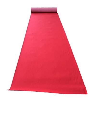 Aitex Rotolo Tappeto Metri 1 x 30 Rosso Natale passatoia Natalizia Rossa Moquette agugliato