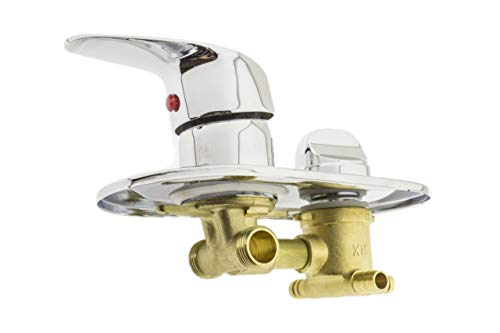 Rolli Mischbatterie für Dusche Mischventil Messing Wassermischventil 3 Wege Duschkabine Mischbatterie S36